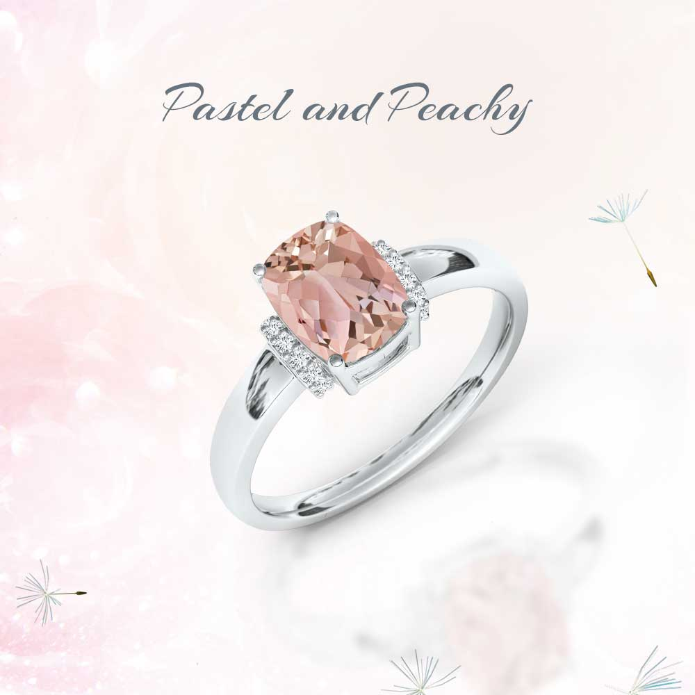 Perfect for the season's free-spirited vibe. Morganite dazzler.