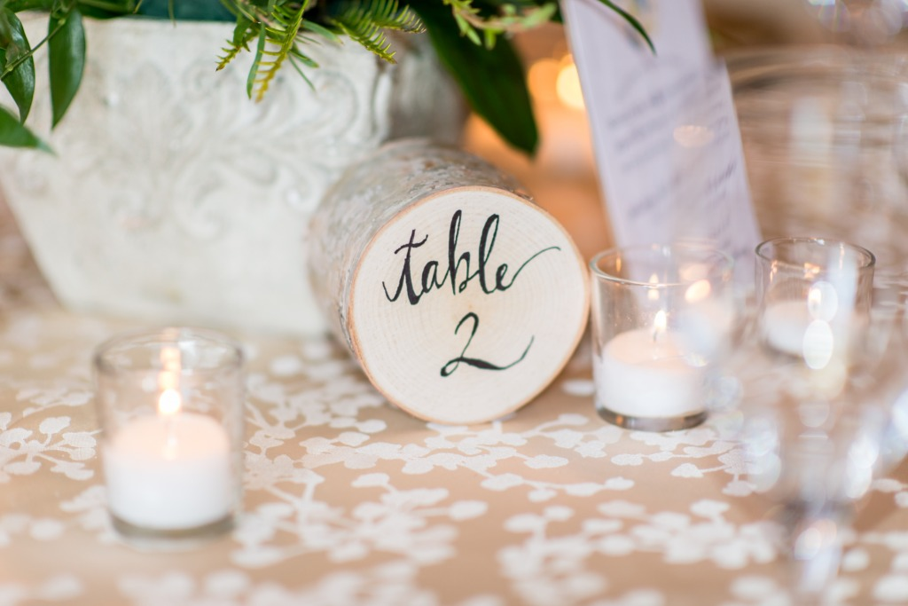 A little wooden handlettered love for these rustic table numbers from Persnickety!
