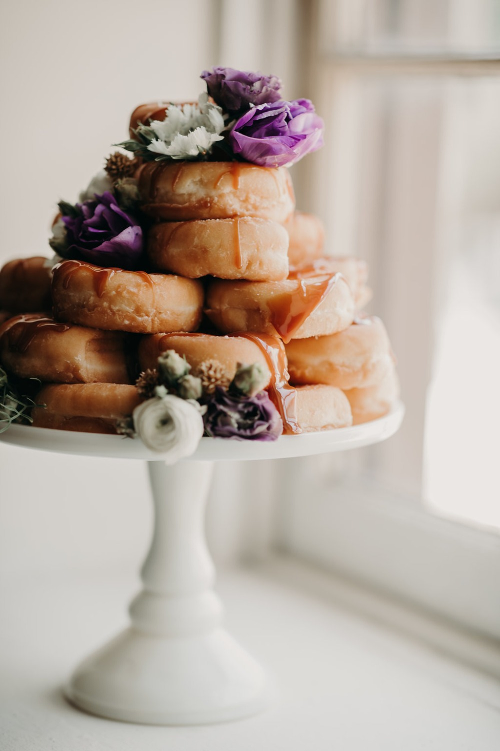 wedding donut cake