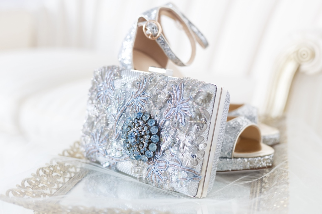 The perfect Something Blue to finish your bridal look