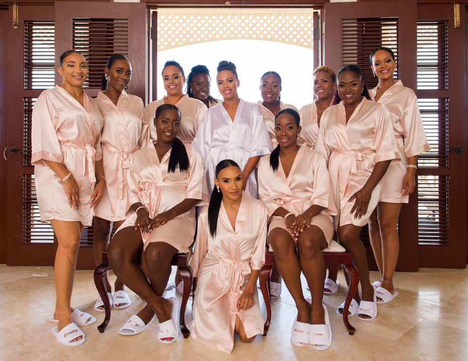 Rihanna as a bridesmaid at best friend's Barbados wedding