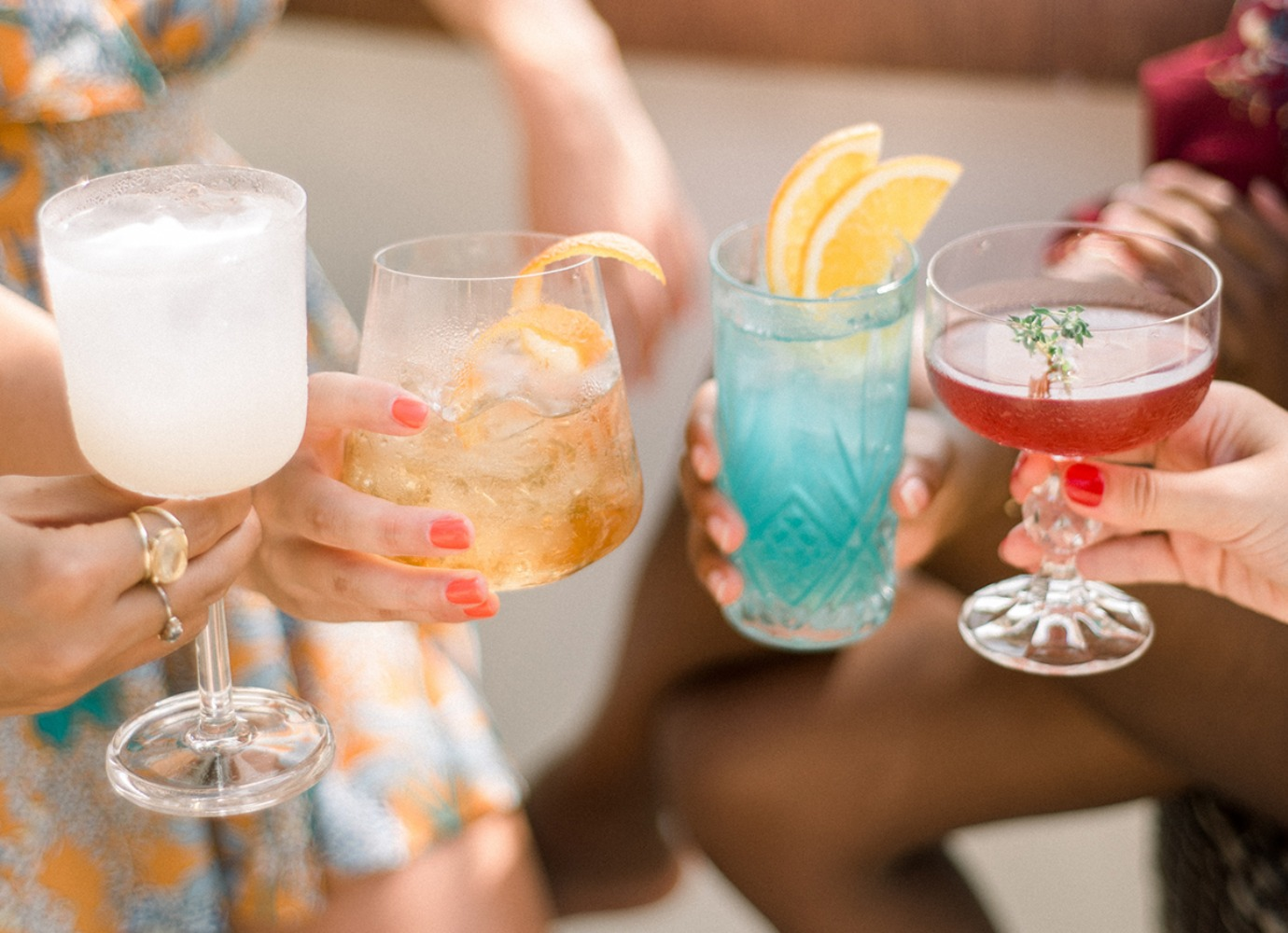 fancy beach Bachelorette cocktails