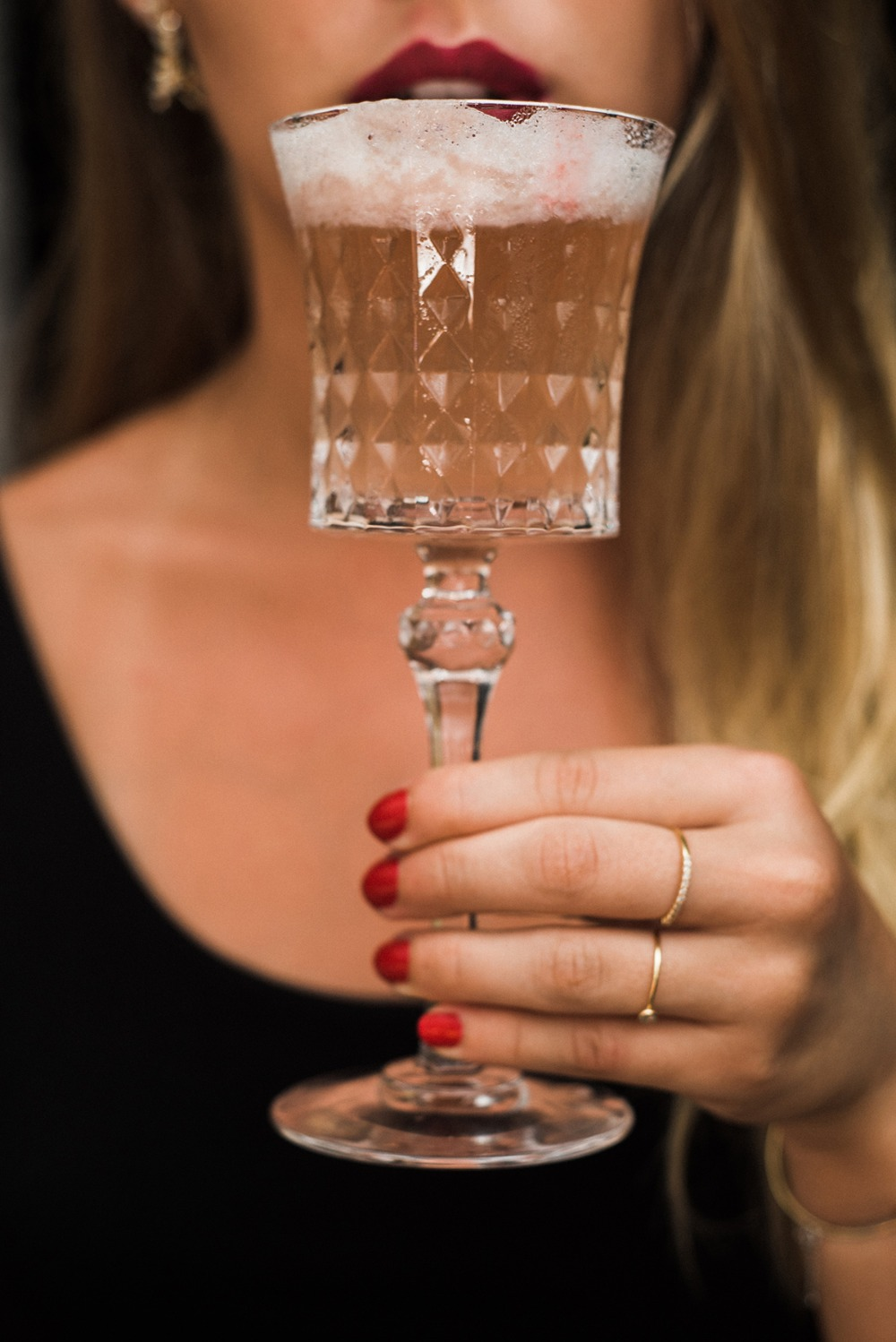 fancy Bachelorette cocktail