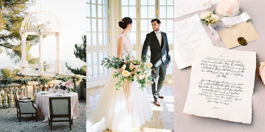 A luxury chateau wedding in the french riviera