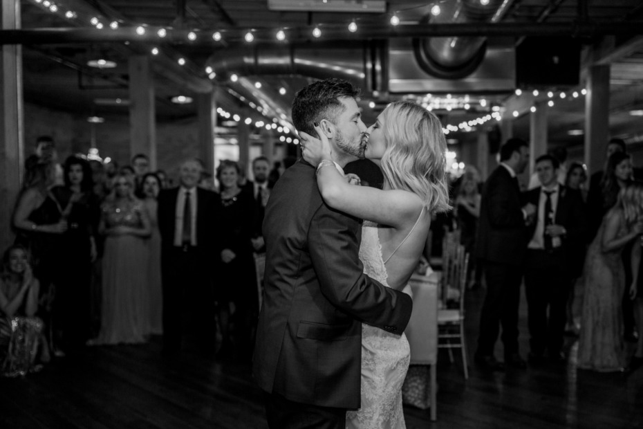 Kayla Cummings and Her Husband Griffin Kissing On the Dance Floor
