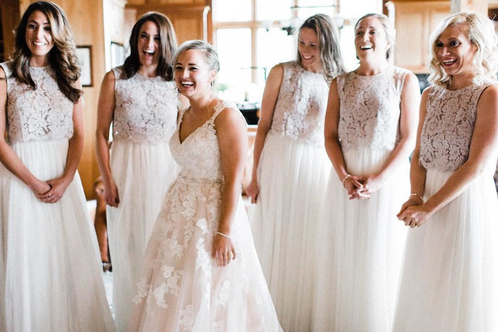 All smiles before walking down the aisle.💕 #ShopRevelry