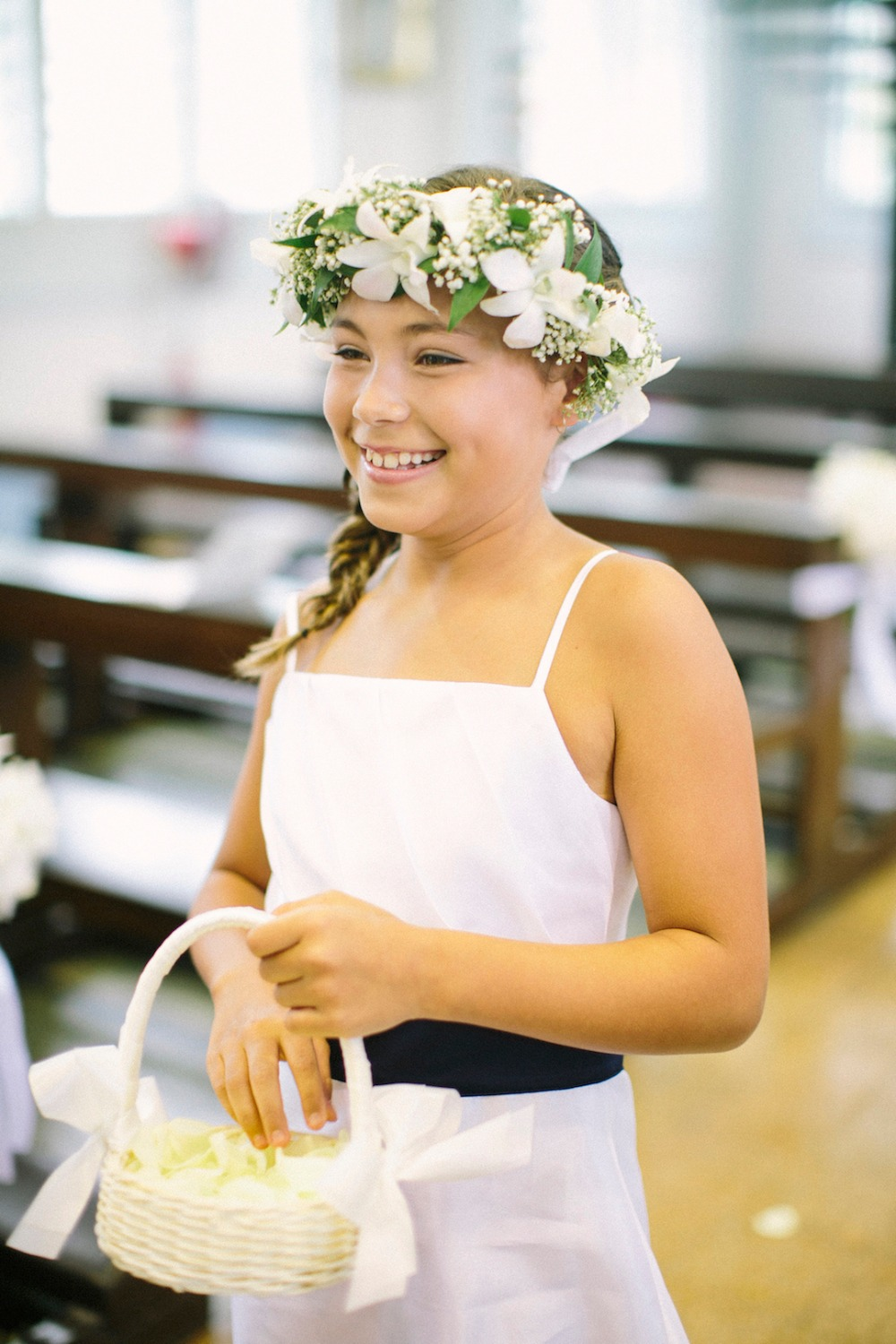 sweet flower girl with flower halo