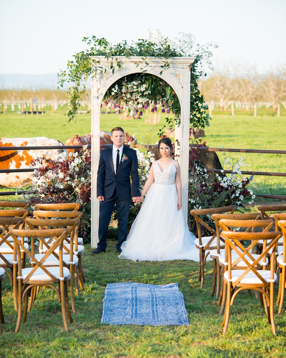 romantic and rustic wedding ceremony