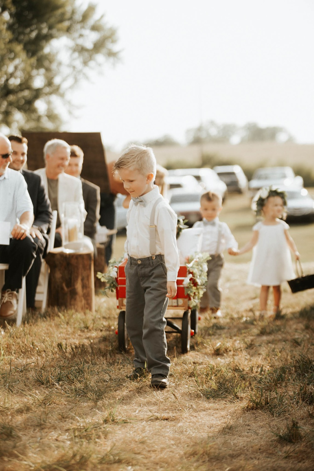 cute little ring bearers and flower girls