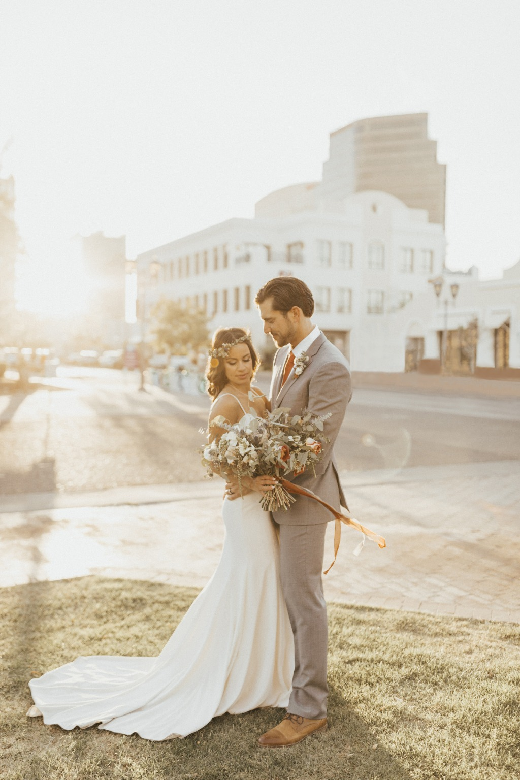 Bre and Eric had a beautifully calm wedding day in Downtown Phoenix. We caught them right as the sun was peeking through the streets