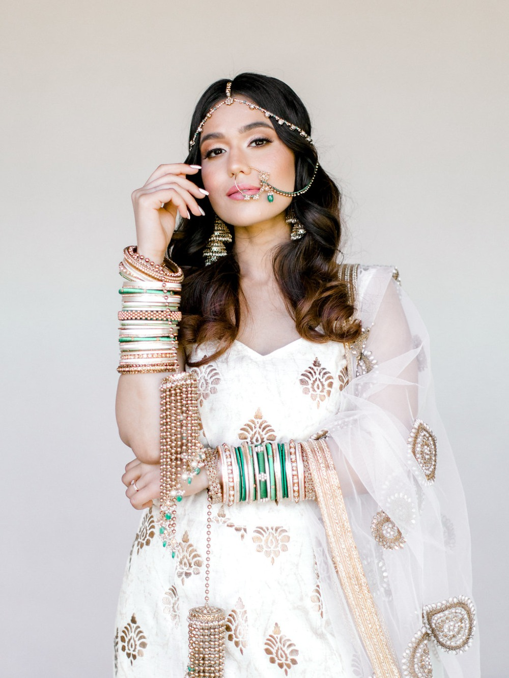 traditional South Asian bridal style