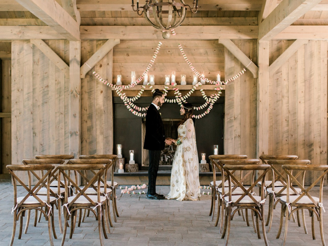 simple and rustic wedding ceremony