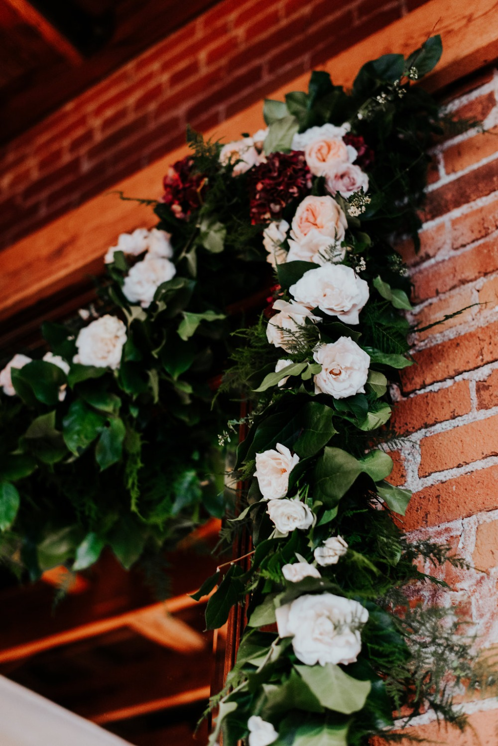 floral garland wedding decor