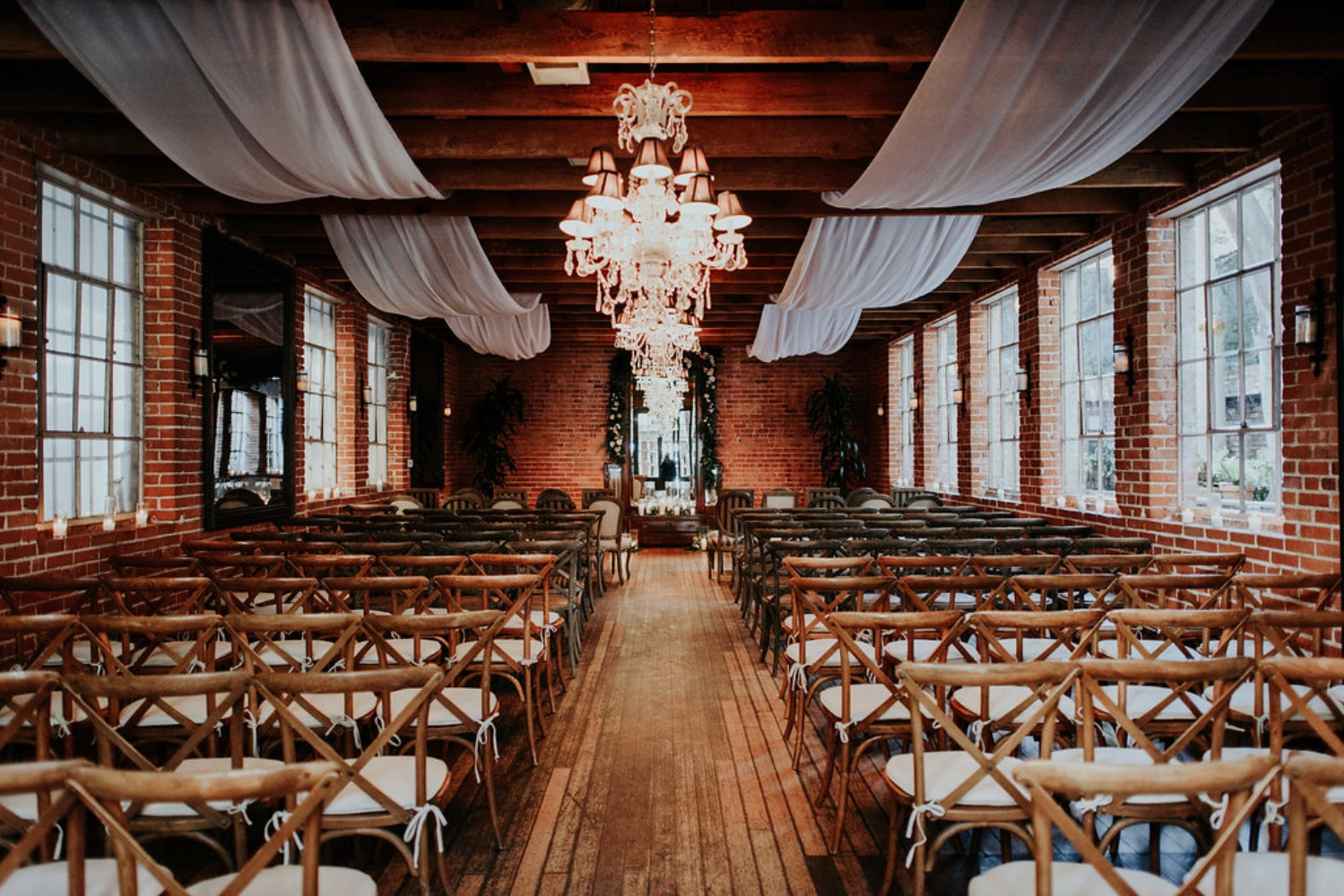 wedding ceremony at Carondelet House