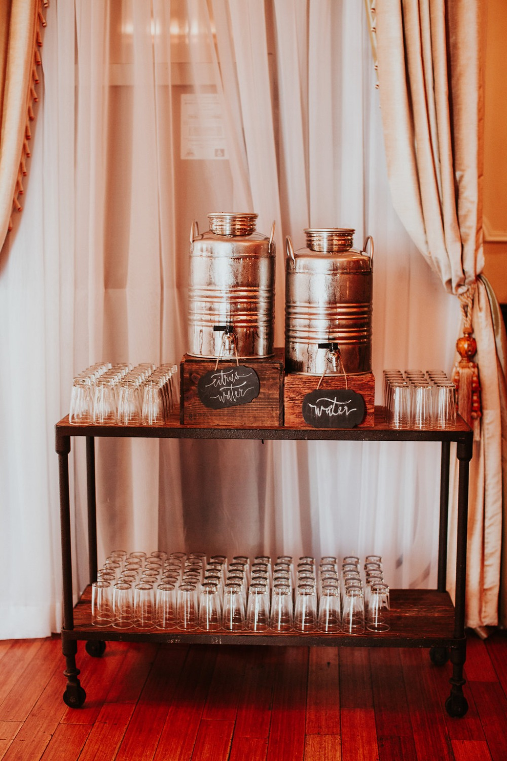 wedding drink bar