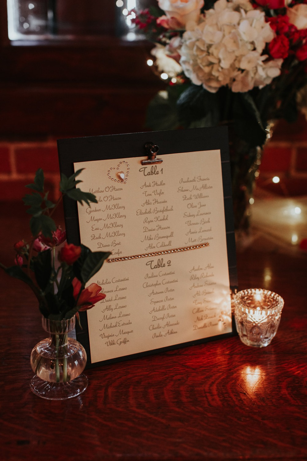 wedding table assignment
