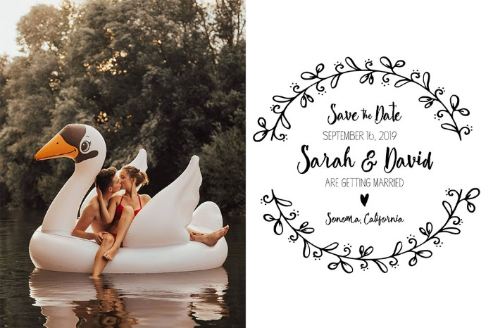 Print: Rustic Wreath Save The Date