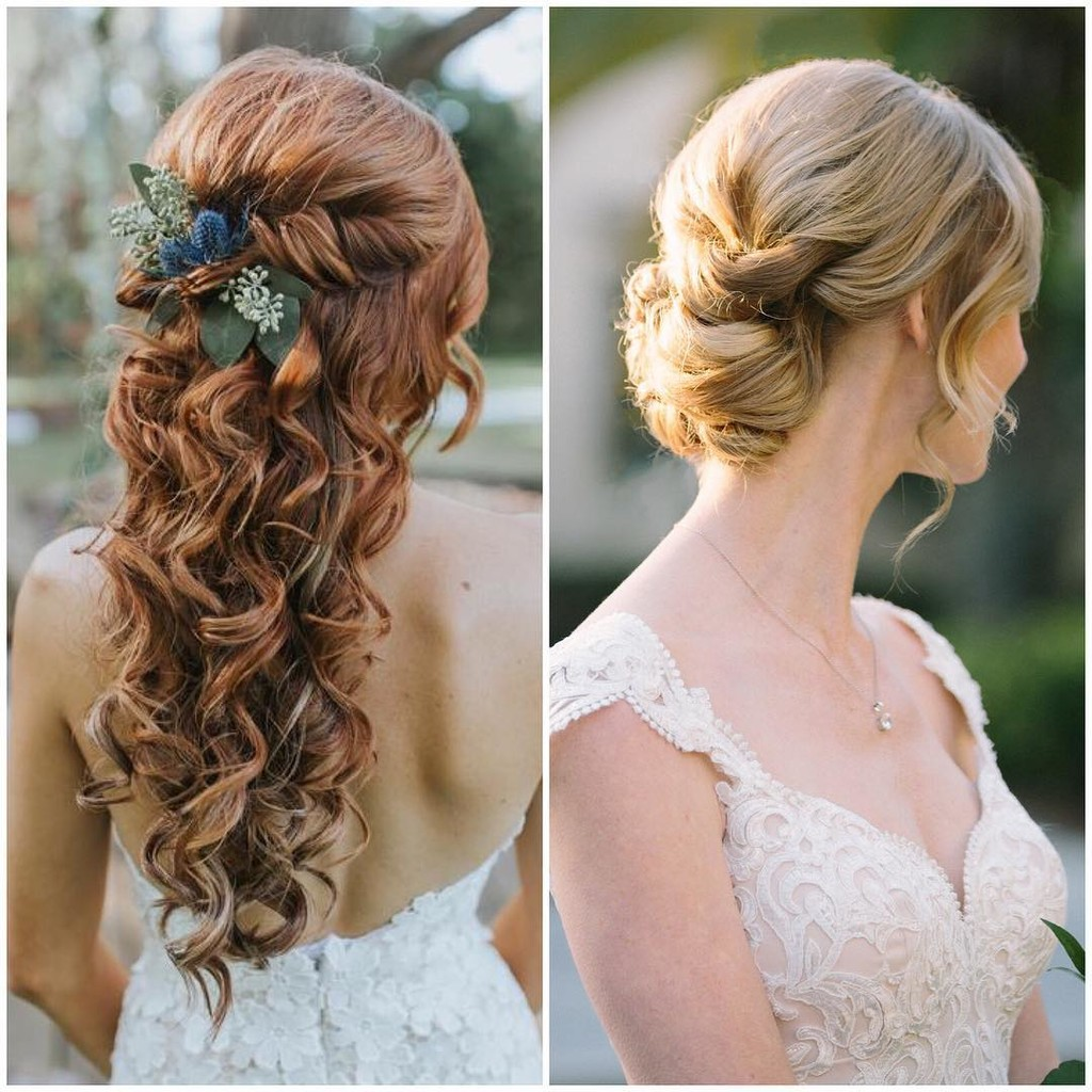 Question of the day... which do you prefer for bridal hair? DOWN or UP?!