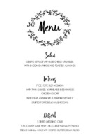Rustic Wreath Menu