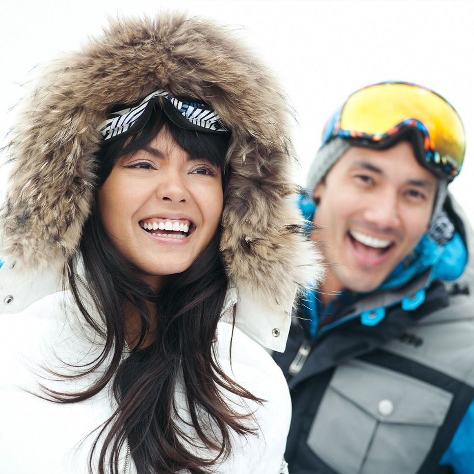 VEBO Experience Registry Couple On Ski Slopes
