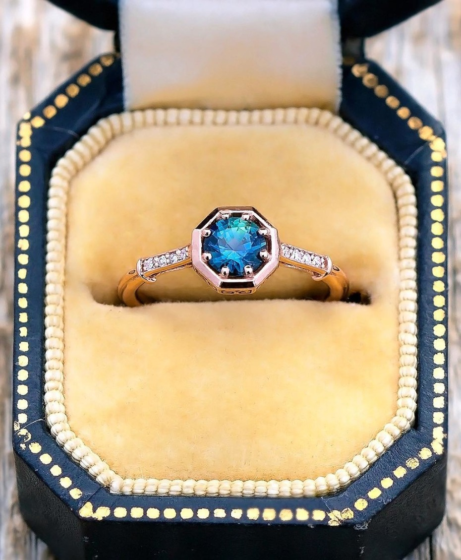 Montana Sapphire Engagement Ring S. Kind & Co.