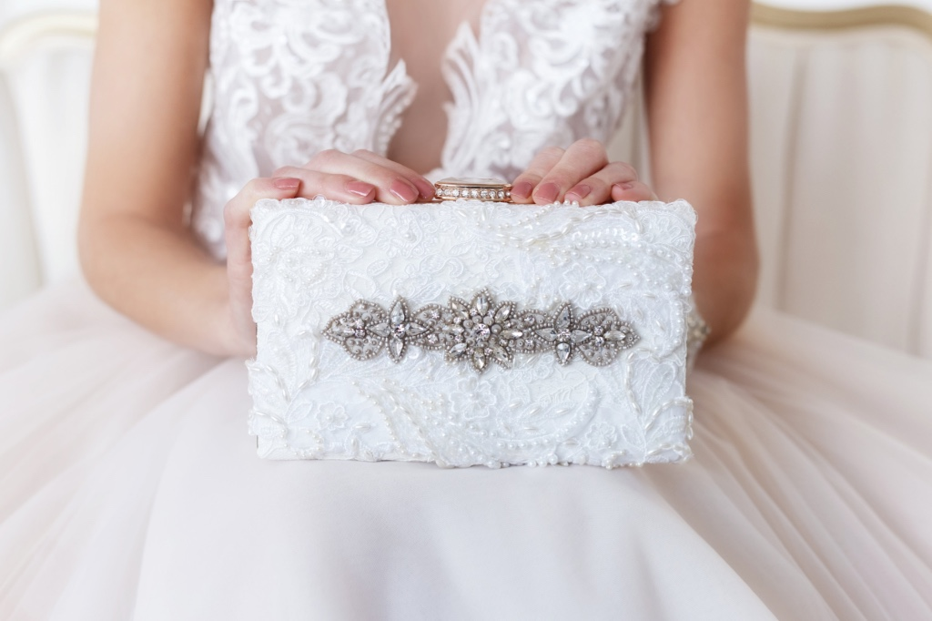 Couture bridal clutches that are the perfect bridal keepsake