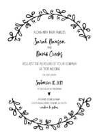 wreath wedding invite