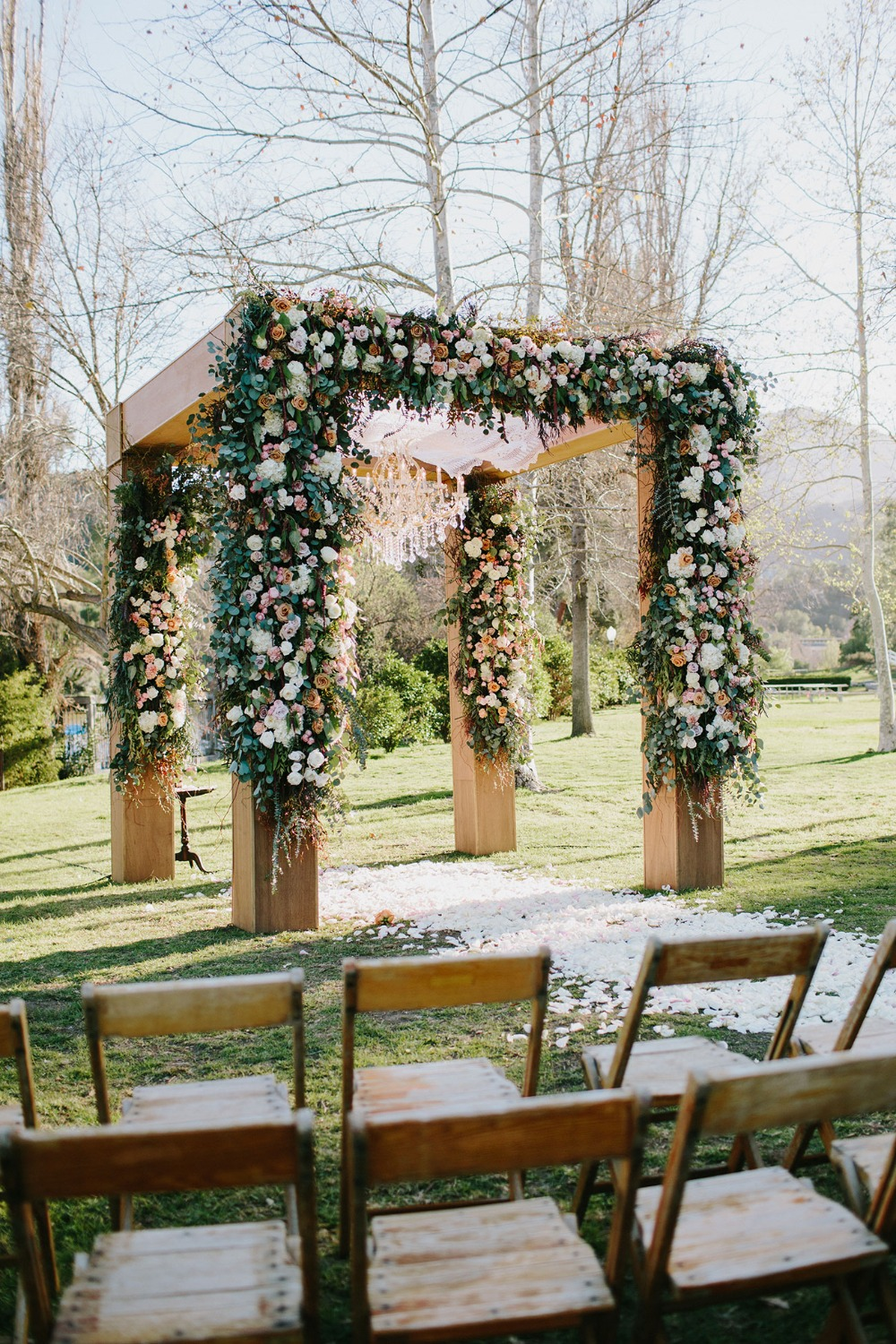 flower covered chuppah
