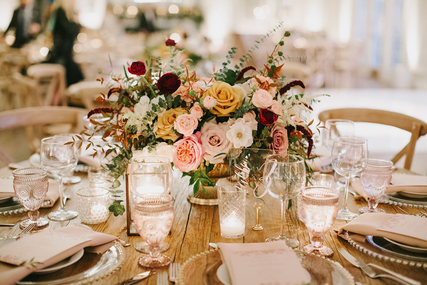 vintage boho inspired centerpiece