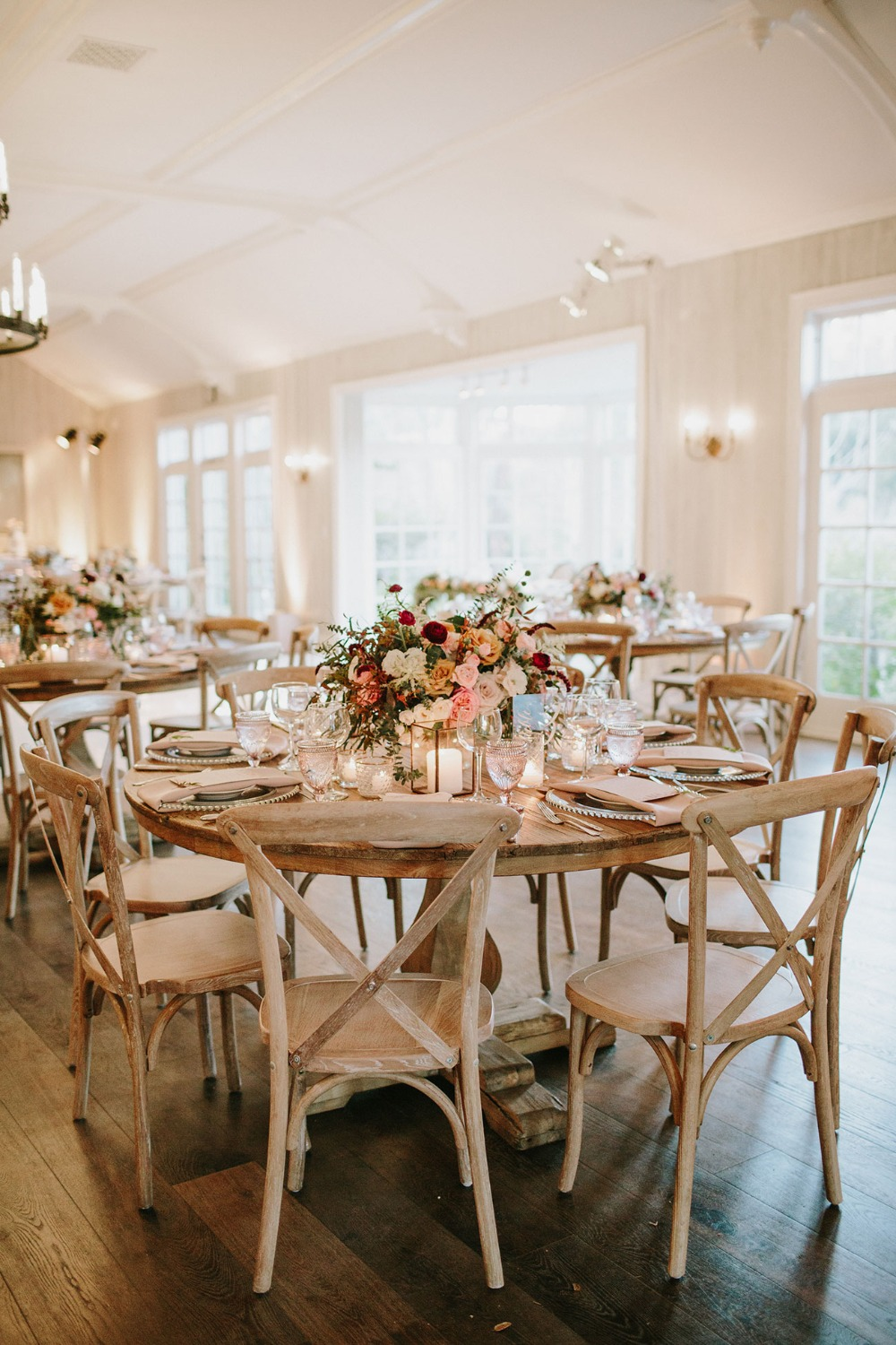 rustic glam wedding reception