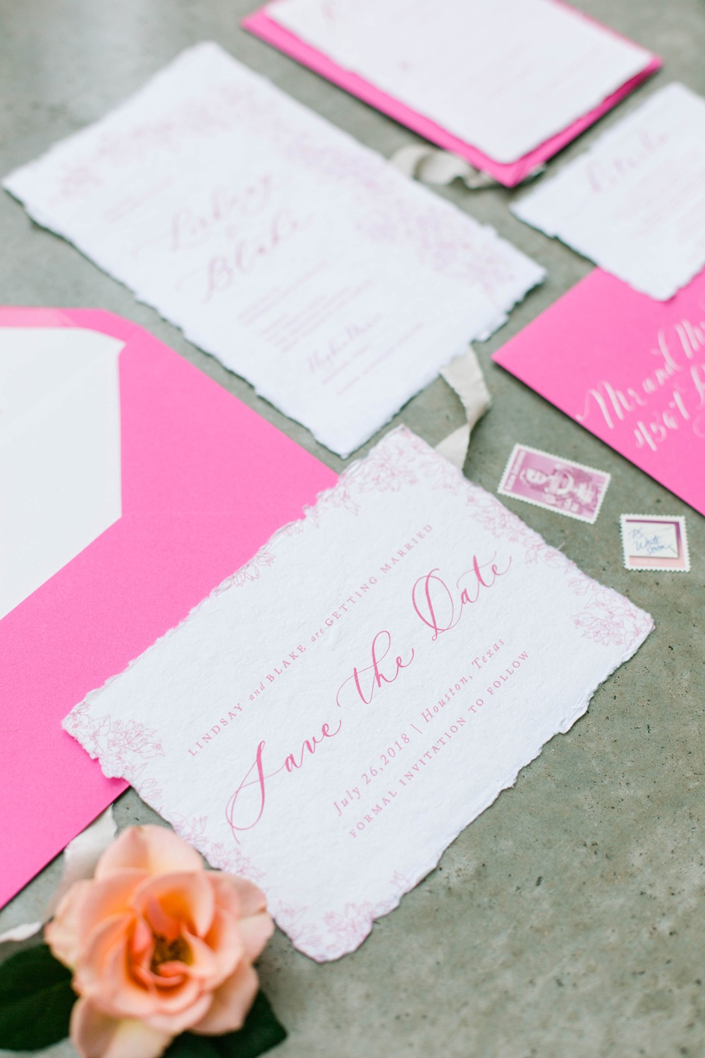 calligraphy wedding save the date