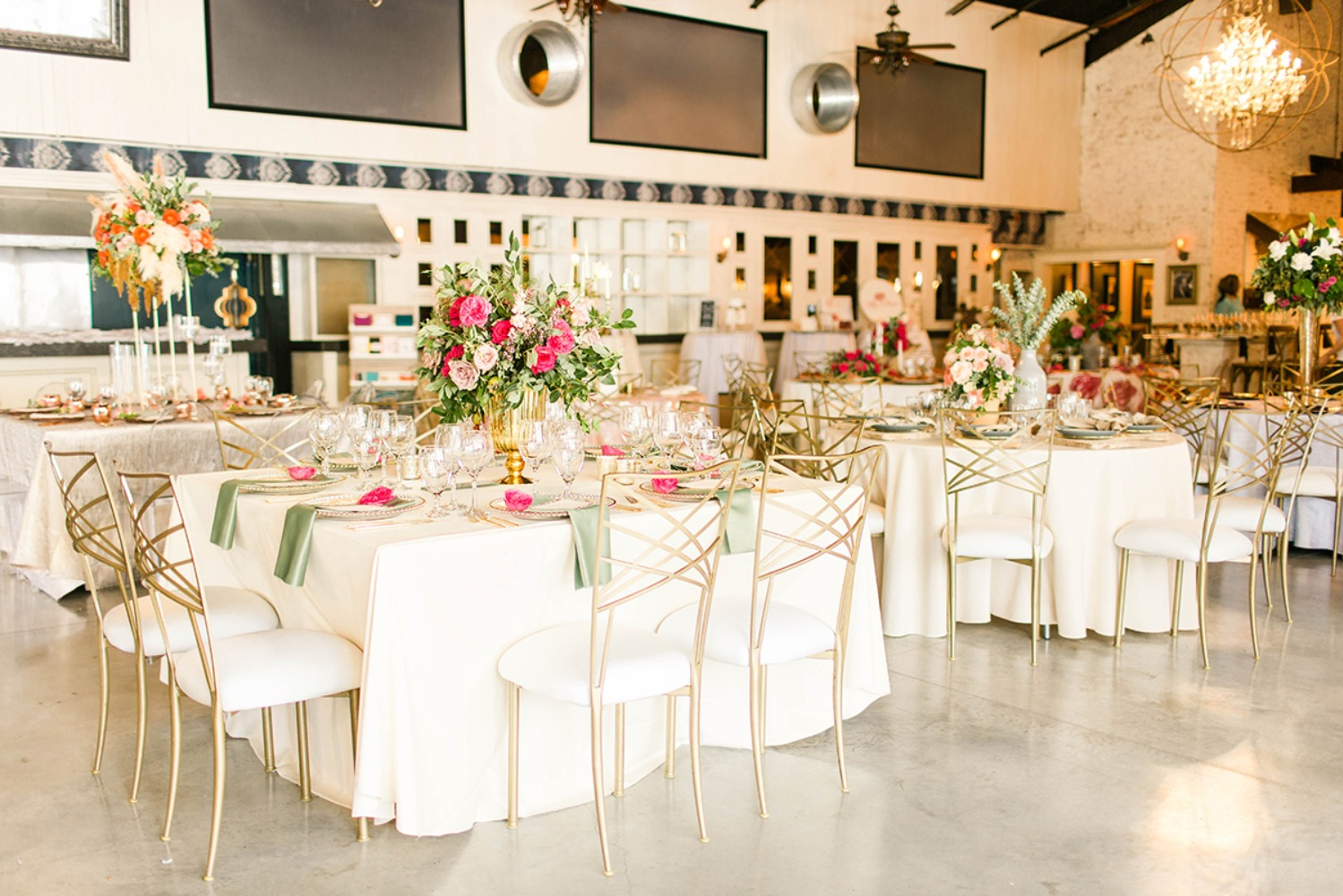 wedding reception with unique modern style