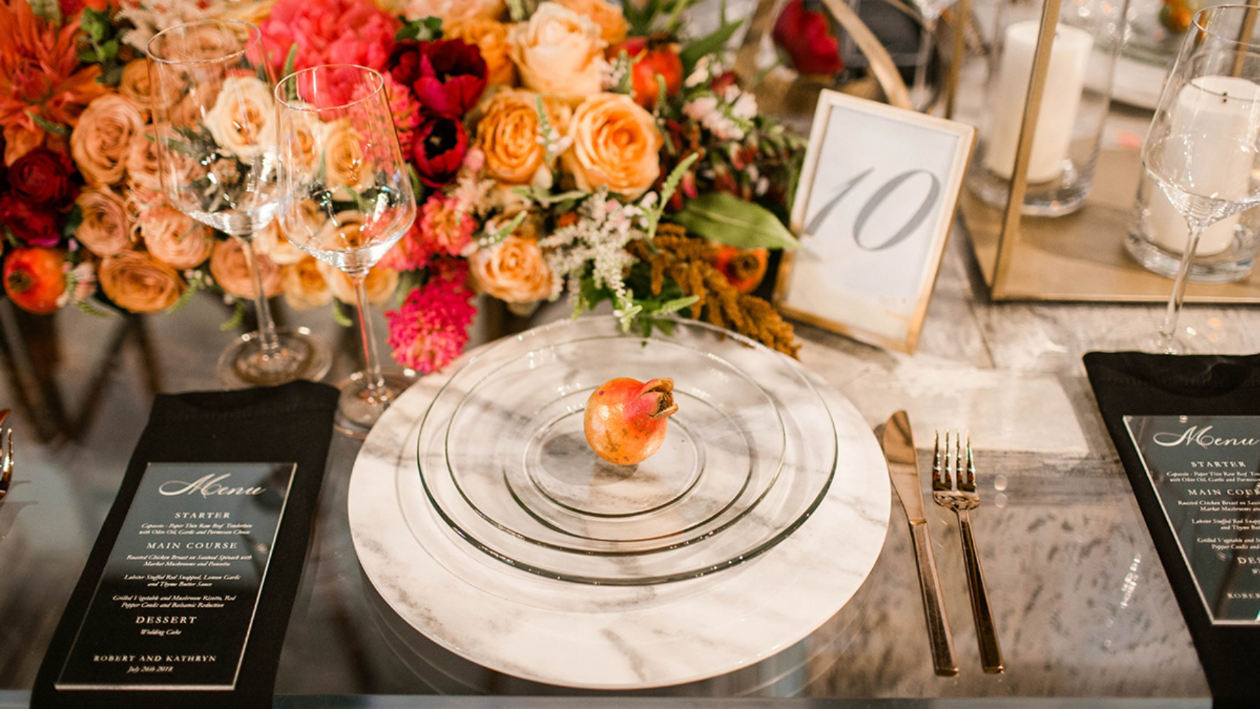 romantic and chic wedding table idea
