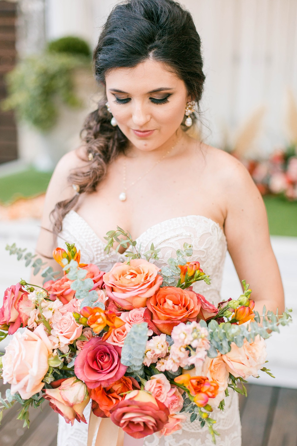 bight and summery wedding bouquet