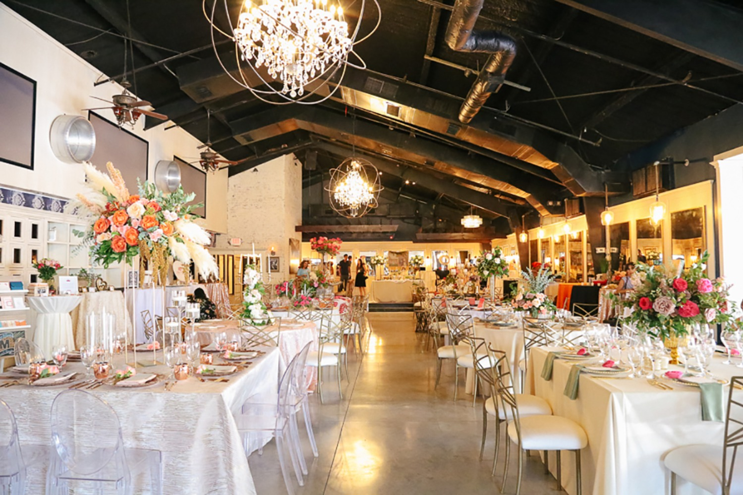 modern wedding reception space