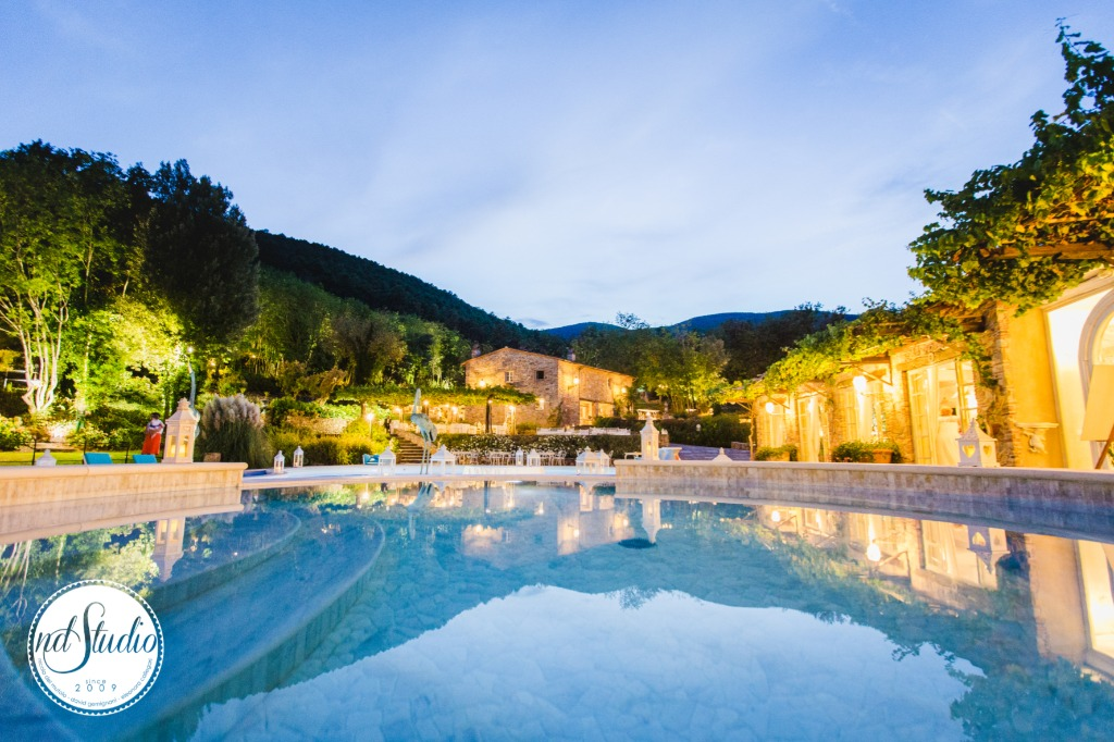 Wonderful view of tuscan hamlet under the evening light. The perfect place to celebrate love.