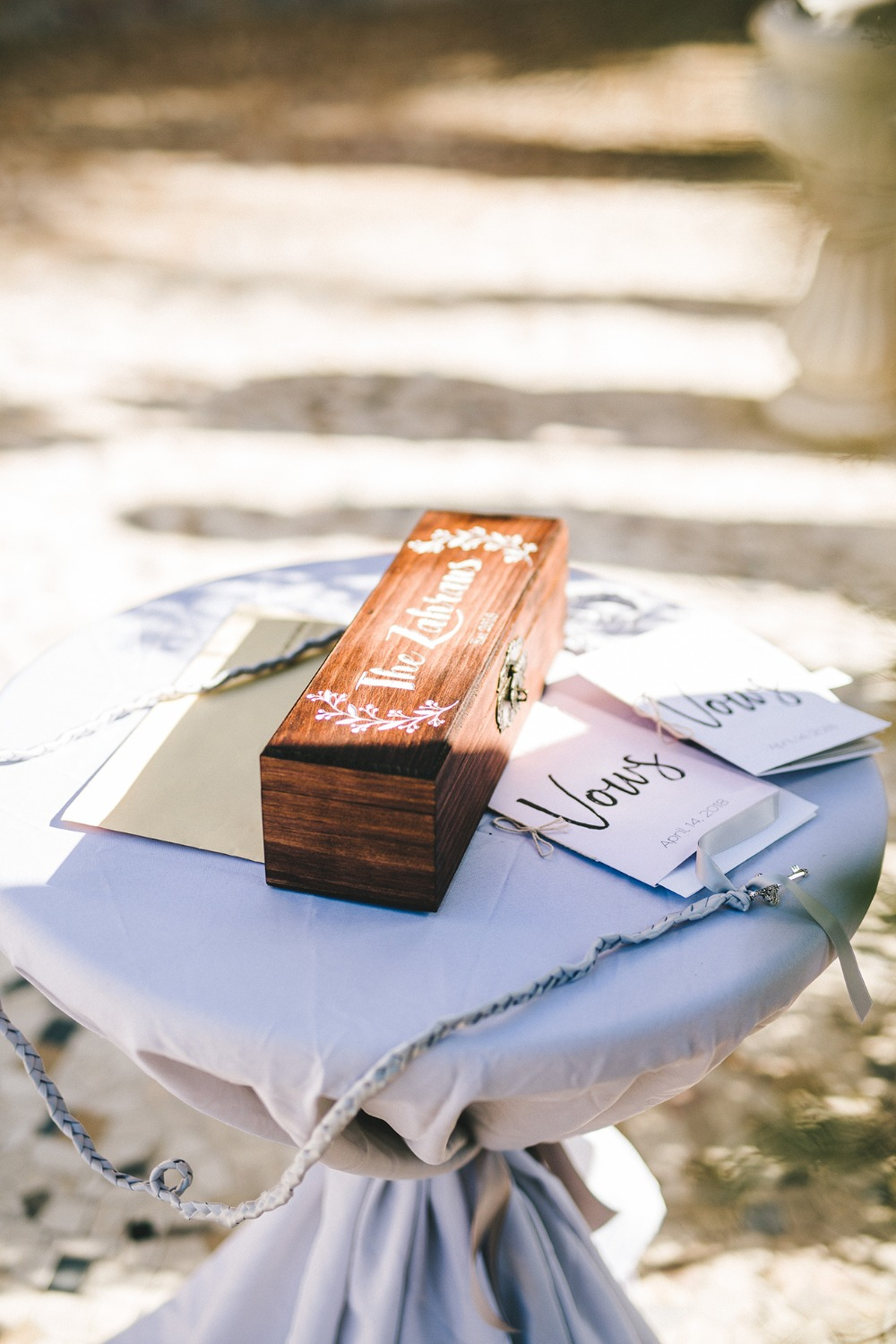 Marriage vows box