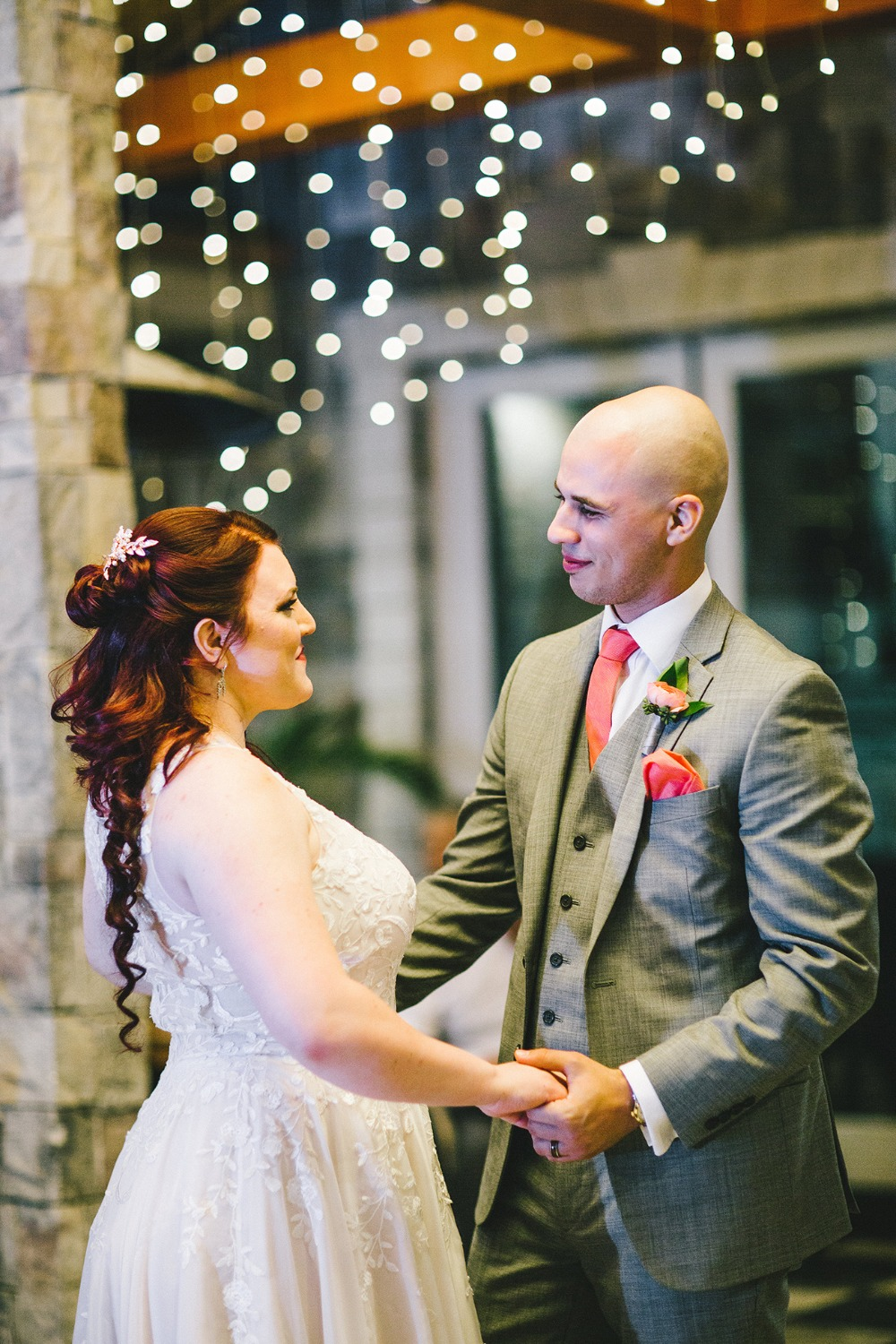 First dance under twinkle lights