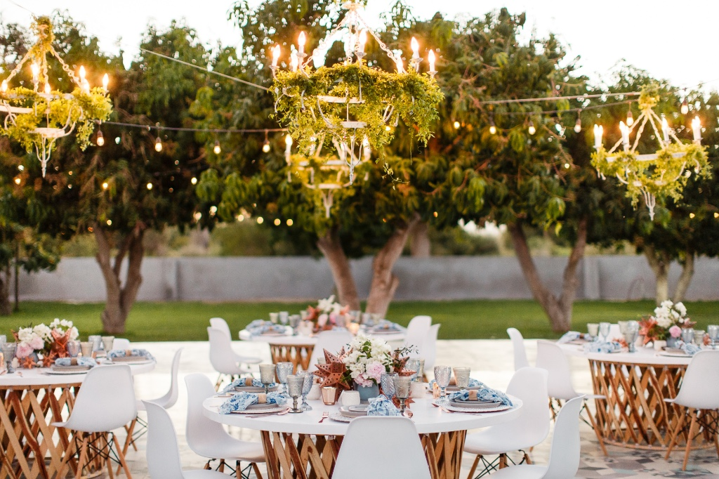 Al Fresco wedding reception for a Farm Wedding in Los Cabos