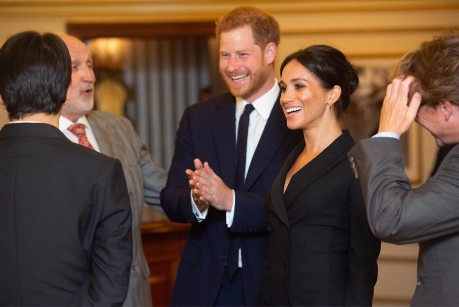 Meghan Markle Wears Black Tuxedo Dress at Hamilton Charity Event