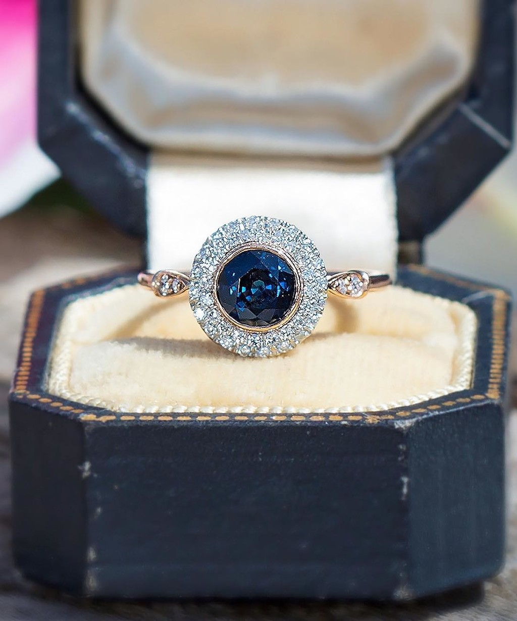 Guess: Montana Or Australian Or Post-Consumer Sapphire? 💙🦋🌟 We love working with all three. Especially when set in recycled