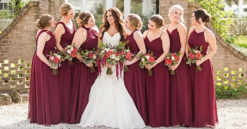 bbfc6146673 Dress your bridesmaids in a beautiful Cabernet!✨😍