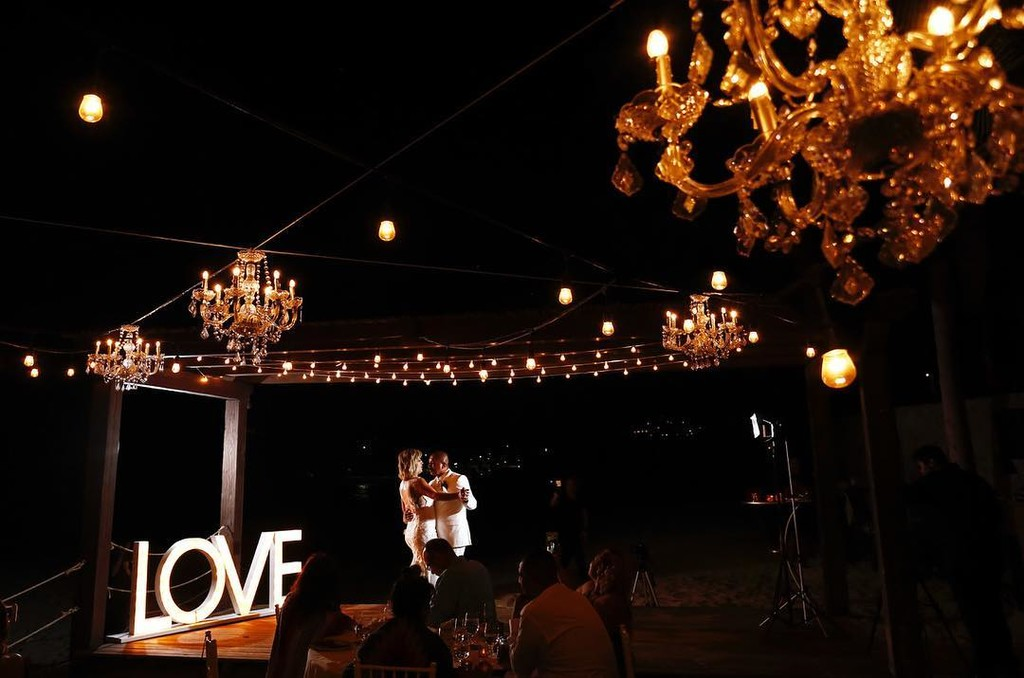 Chandeliers for a romantic Cabo Wedding
