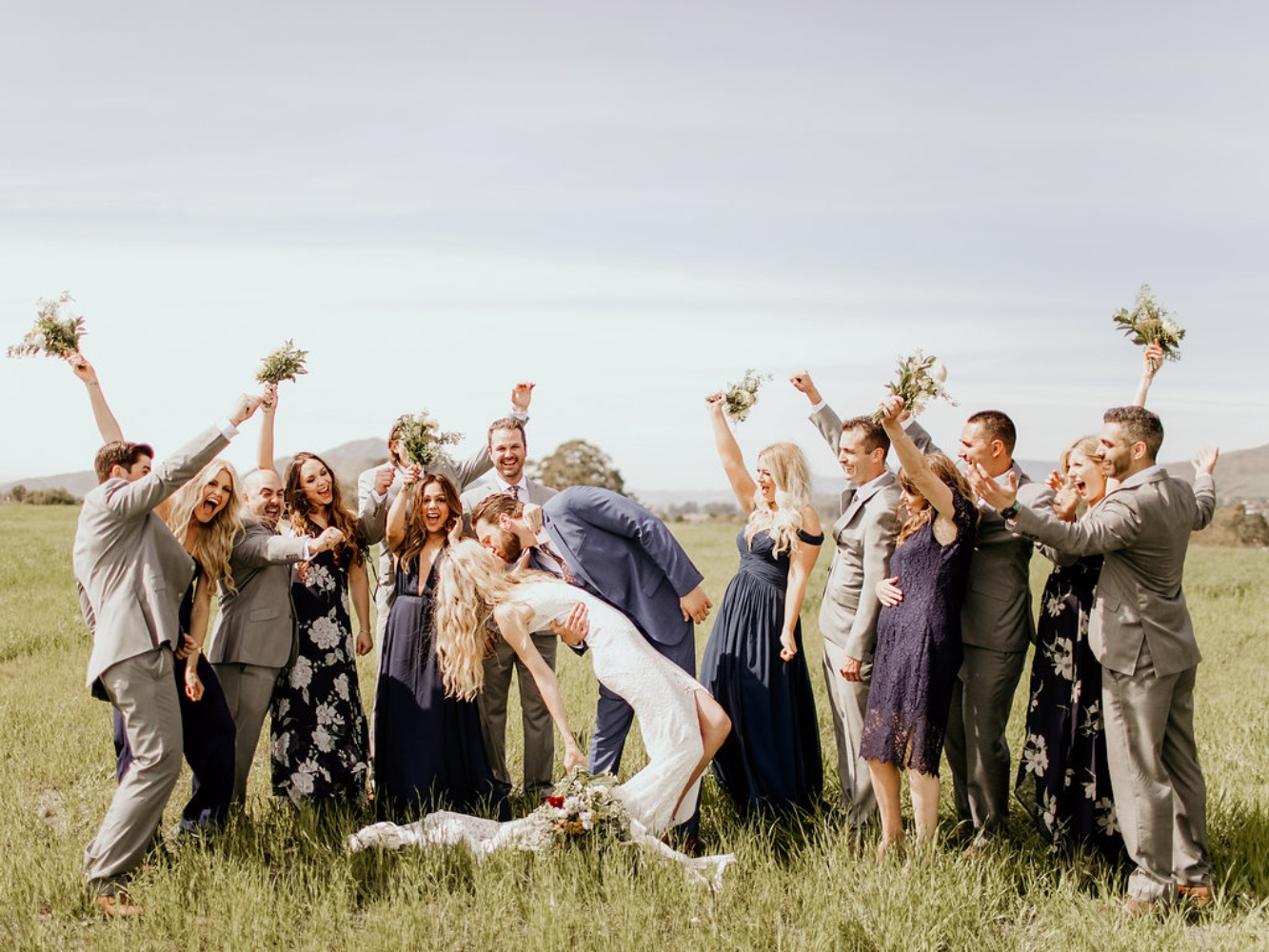 fun wedding kiss photo idea
