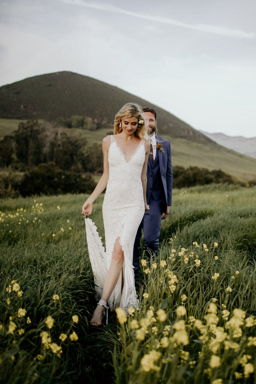 wedding among the wildflowers