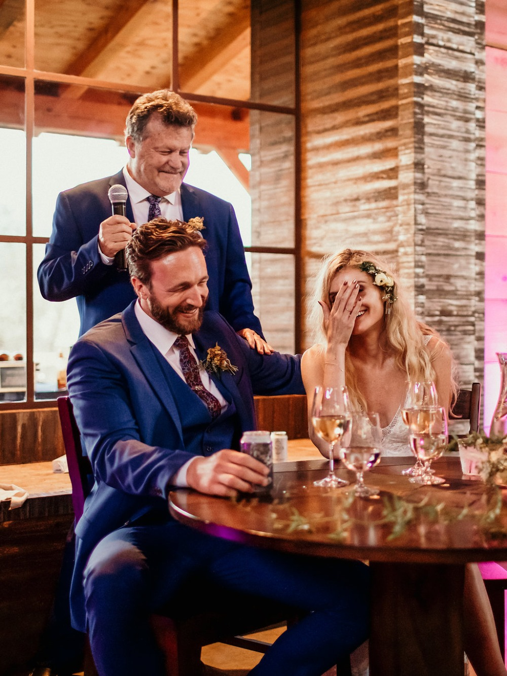 cracking up the newlyweds