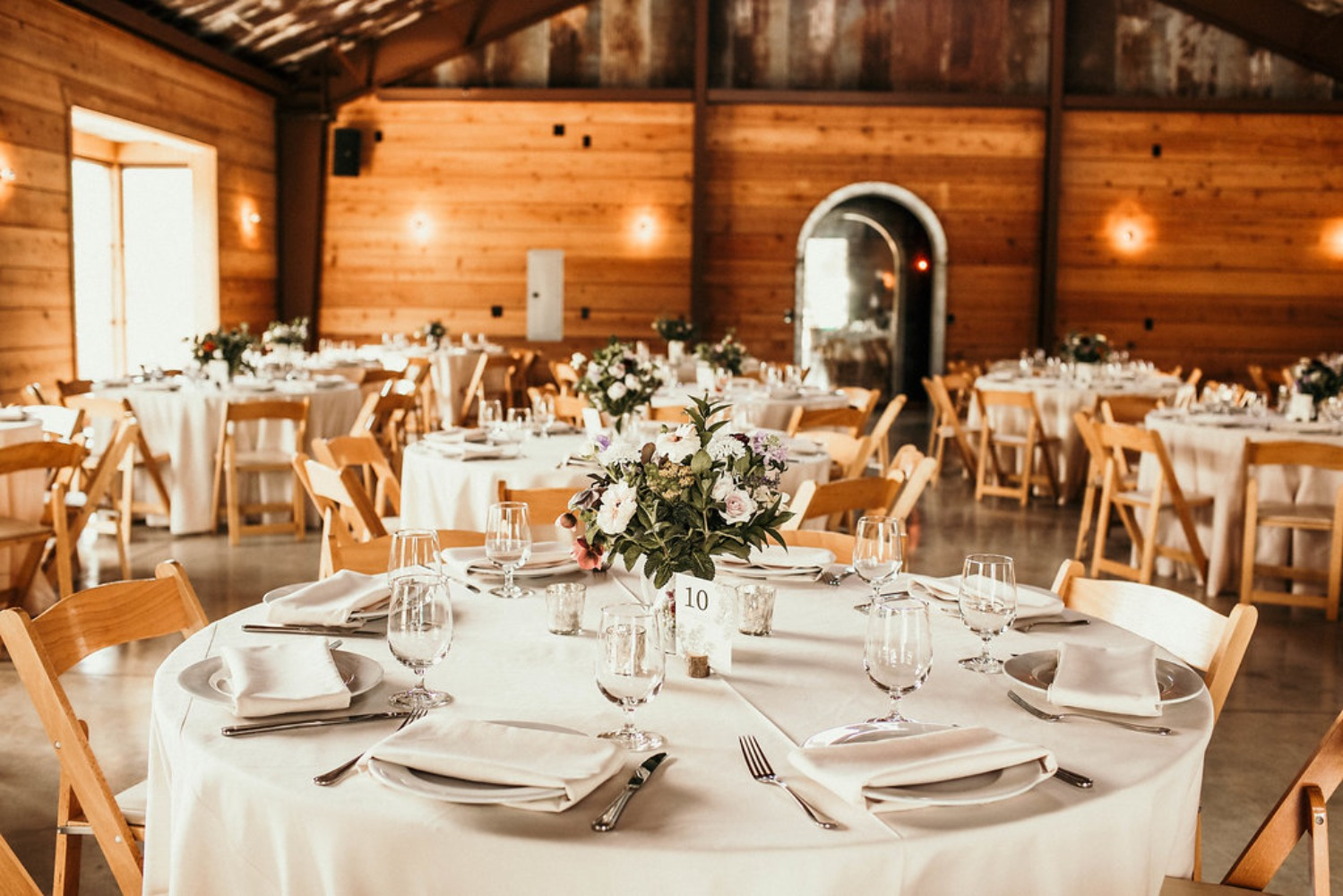 rustic and modern wedding reception venue