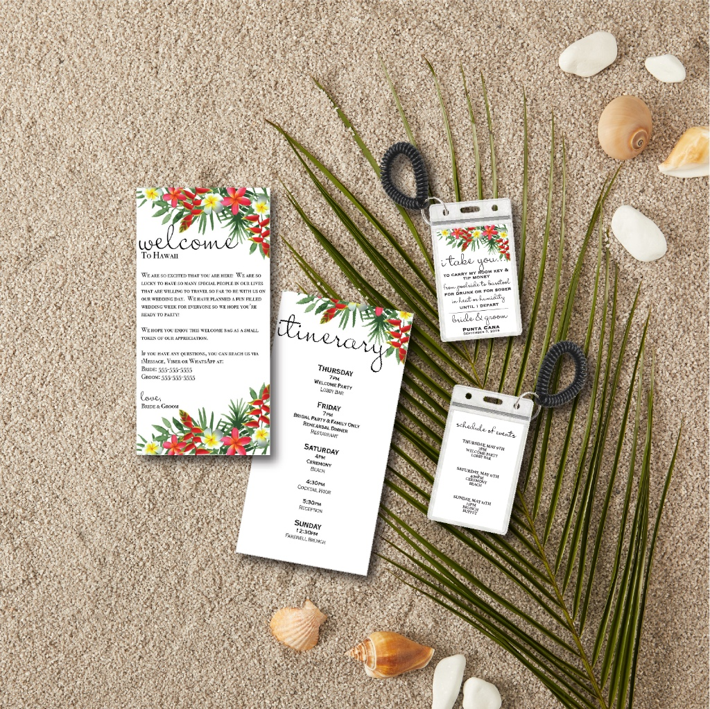 Guys we are GUSHING over these adorable destination wedding stationary items! Available in soooo many adorable colors!