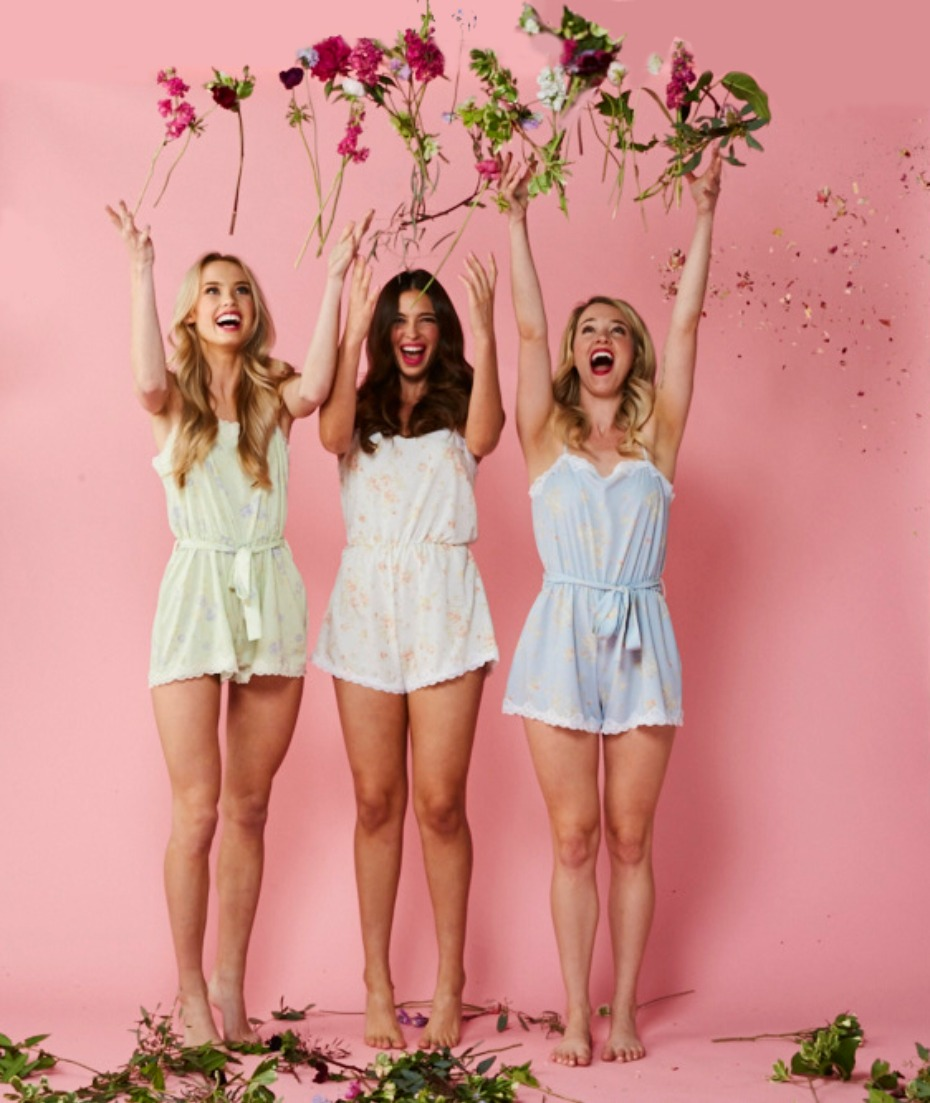 Love Ophelia Gatsby Rompers in Mint Ivory and Blue