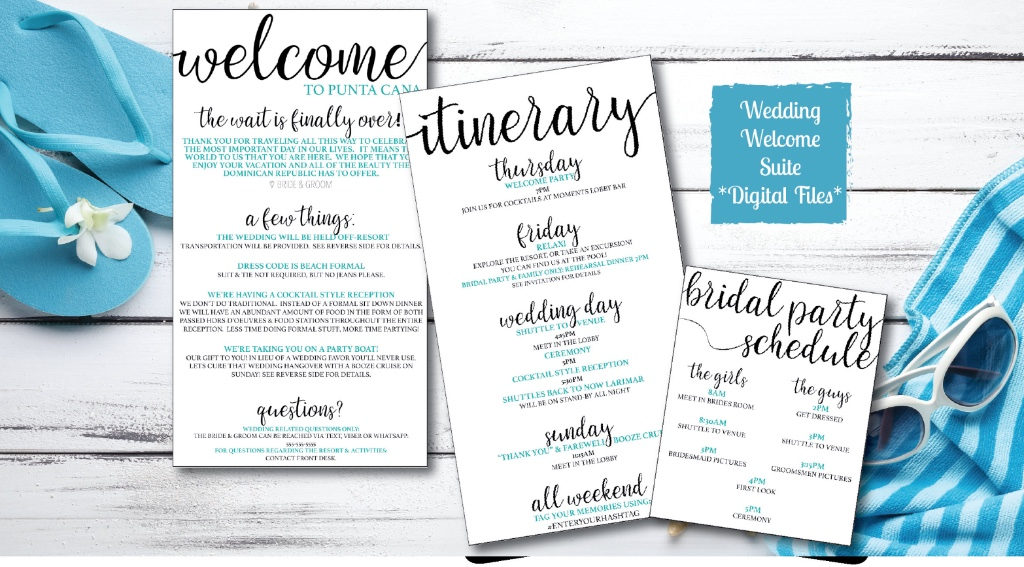 Calligraphy Wedding Welcome Suite - Fully customized! Get yours now!